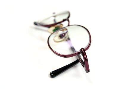 Spectacles isolated on white photo