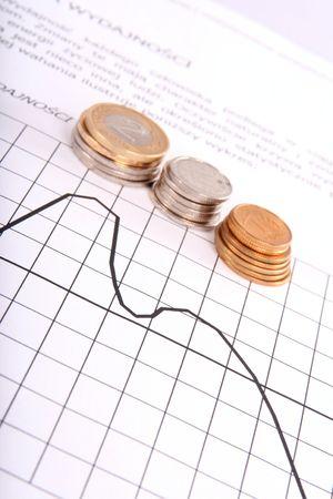 money and chart Stock Photo - 3939928