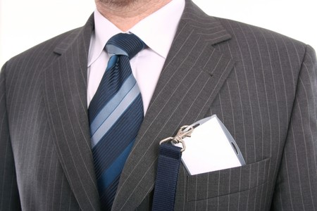 authorisation: men with his id card