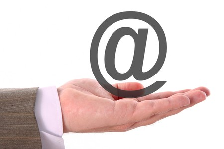 Age of information (hand and email symbol) photo