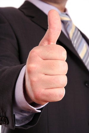 male thumb up gesture OK Stock Photo - 4055566