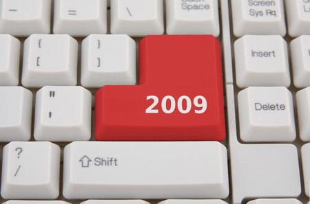 keyboard with red button 2009 Stock Photo - 4094275
