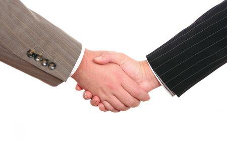 Business handshake isolated on white background Stock Photo - 4094283