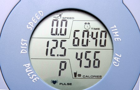 gym bike meter, as lifestyle (healthy)  background   Stock Photo - 4118380