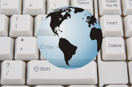 Concept of global internet connectivity or international business Stock Photo - 4235633