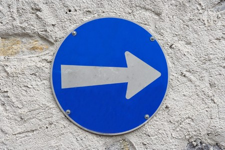 Traffic road sign isolated on wall Stock Photo - 4235637