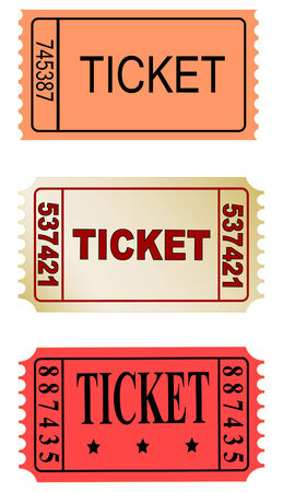 receipts: set of color tickets