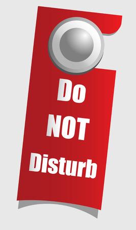 quiet room: Handle door with warning sign,  vector