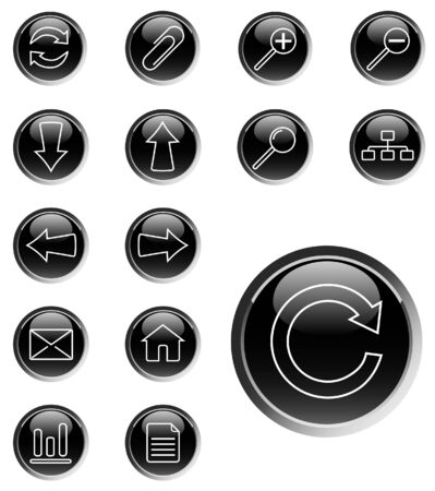 Set of web icons - vector Stock Vector - 4376804