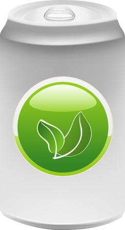 Aluminum can with Ecology symbol Vector