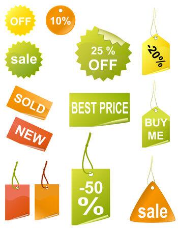 Shopping tags, vector Vector