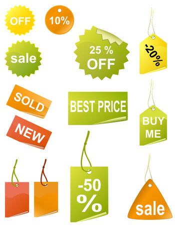 Shopping tags, vector
