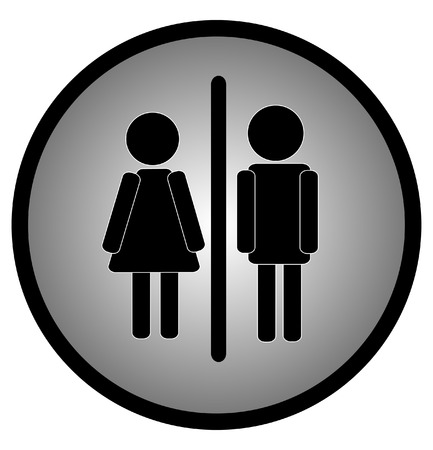 figure man and woman or couple web button or icon - vector Vector