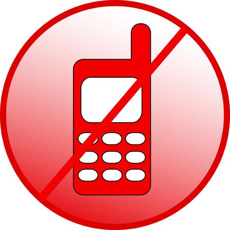 silent: forbidden calling, no phone sign