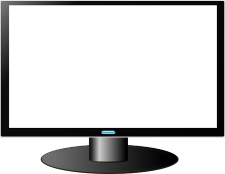 HDTV TV with white screen Vector