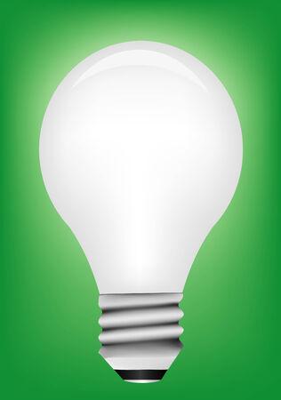 Vector light bulb on green background Stock Vector - 4407210
