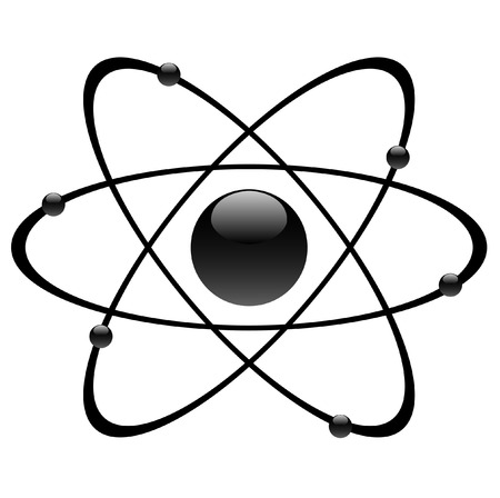 particle: atomic symbol, vector Illustration