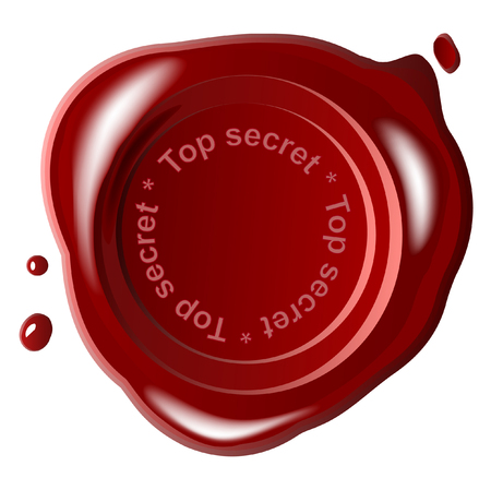 Red wax seal ,vector,top secret Vector