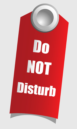 doorhandle: Handle door with warning sign, vector