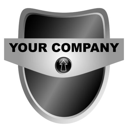 black shield with your logo, template Vector