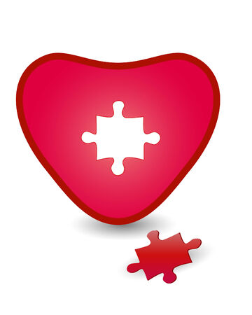 Heart and puzzle Vector