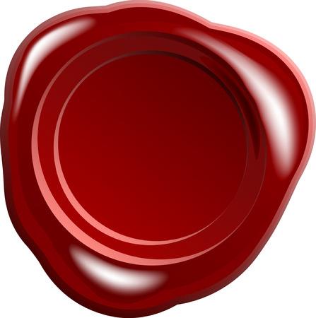 sceau cire rouge: Vecteur de sceau de cire rouge
