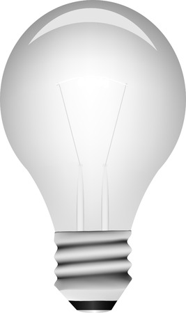 contemplating: Vector light bulb