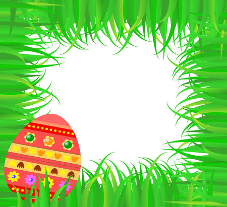 Easter frame with colorful egg Vector