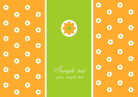 Spring  greeting card with white daisy Vector