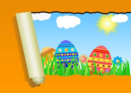plied: Easter background  Illustration