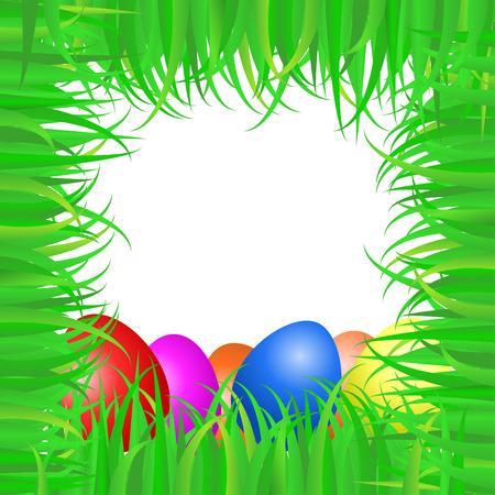 green Easter frame  Vector