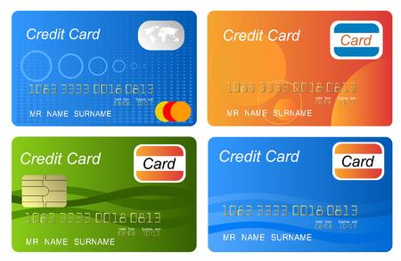 personalausweis: Set Kreditkarte Vektor, sehr detaillierte