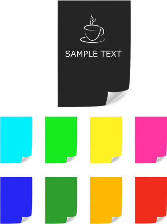 Color paper sheets ,vector. Menu template Vector