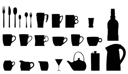 Vector collection dishware Vector