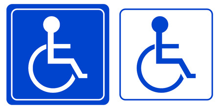 accessibility: handicap or wheelchair person symbol, vector