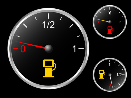 Cars fuel gauge Vector
