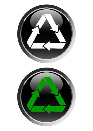 Recycling symbol web icon Stock Vector - 4454298