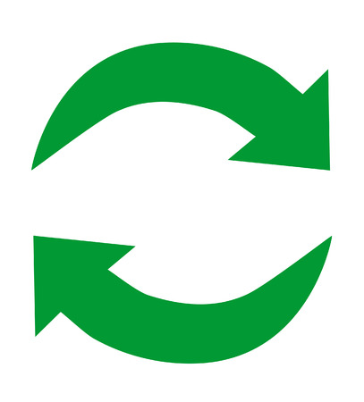 Green arrow  recycle icons on white  Vector