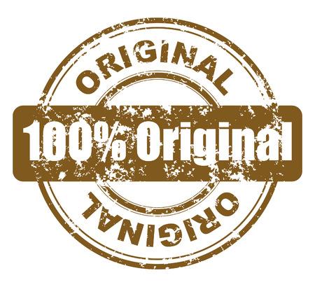 originales: grunge con sello 100% originales Vectores