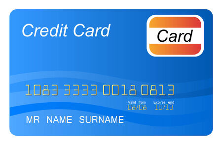 Blue credit card vector, highly detailed, vector Vector