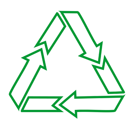 Green recycle icons on white background Vector