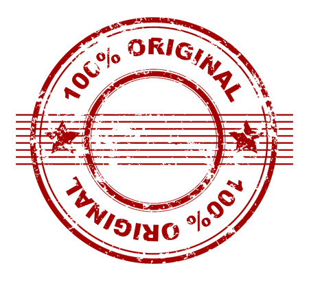 grunge stamp with 100% original Stock Vector - 4498358