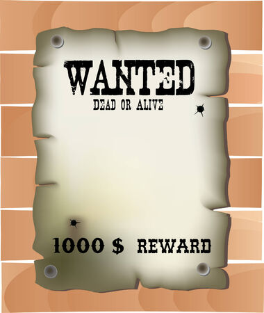 Wild west wanted poster Vector