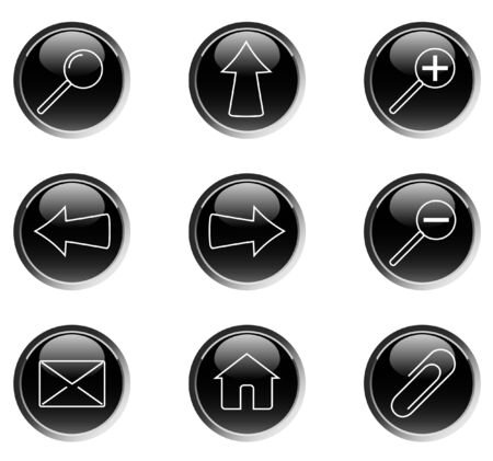 Set of web icons (buttons) - vector Vector