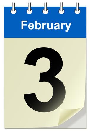 bend: Vector illustration of calendar with bend page Illustration