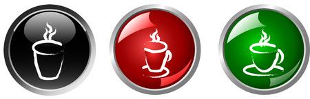 sip: taza de caf� y t�, bebida caliente bot�n
