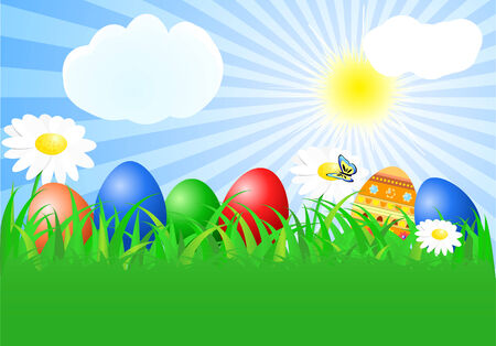 HAPPY EASTER gretting card Vector