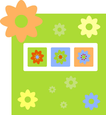 Spring gretting card with flower  Stock Vector - 4577553