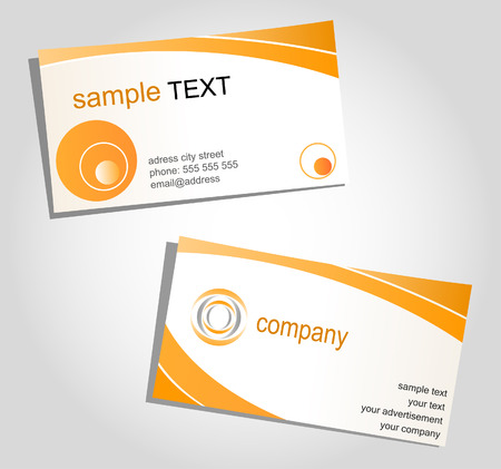 pattern corporate identity orange: Templates for corporate style, business cards
