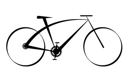 fork road: ilustraci�n de una bicicleta de negro moderno